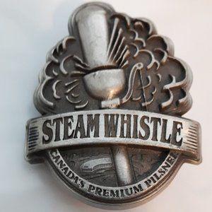 Rare Steam Whistle belt Buckle Metal